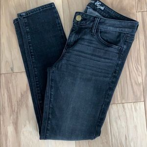 AE black faded jegging pants